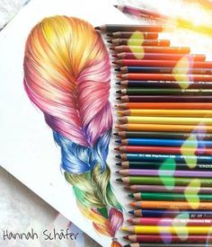 Color pencil drawing by hannah schafer http://webneel.com/25-beautiful-color-pencil-drawings-valentina-zou-and-drawing-tips-beginners | Design Inspiration http://webneel.com | Follow us www.pinterest.com/webneel