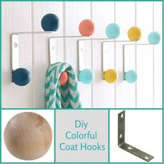 Good Ideas For You | DIY - Colorful Coat Hooks
