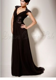 Long Black 2014 Mother of the Bride Dresses 6105358