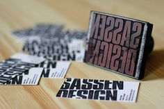 Sassen Design Homemade Business Cards - Really like this, the way it bleeds off the edge.