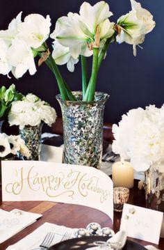 Holiday wedding decor wedding decor flowers candles winter elegant holidays