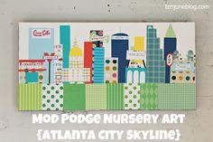 Ten June: Pinterest Challenge: Mod Podge Nursery Art   - I love this diy art piece