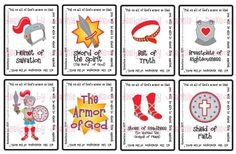 Printable PDF Flash Cards - Armor of God