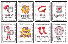 Printable PDF Flash Cards - Armor of God