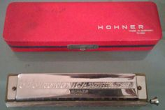 Vintage Hohner 64 Chromonica 4 Chromatic Octave Professional Harmonica With Case