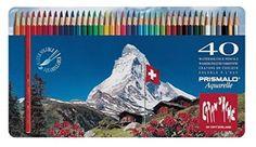 Caran D'ache Prismalo Aquarelle Colour Pencil - Assorted (Pack of 40)…