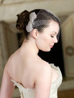birdcage veil with a bow! #omgiamdyingofawesome