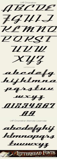 Letterhead Fonts / LHF Chromeliner font set / Retro Fonts