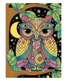 PaintWorks Night Owl Color-by-Number Set Owl Coloring Pages, Adult Coloring, Coloring Books, Doodle Coloring, Colouring, Owl Background, Owl Wallpaper, Owl Bird, Night Owl
