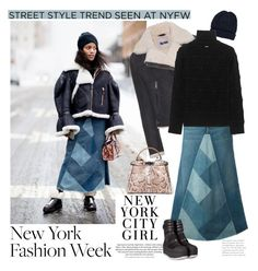 """Street Style New York Fashion Week February 2017"" by ellie366 ❤ liked on Polyvore featuring Barneys New York, Acne Studios, H&M, Yves Saint Laurent, Dsquared2, Fendi, Marni, GetTheLook, StreetStyle and NYFW"