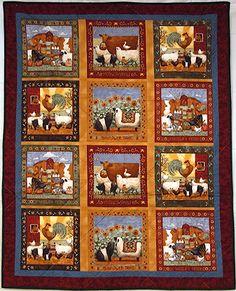 Country Folk Art Farm Animals Baby Quilt