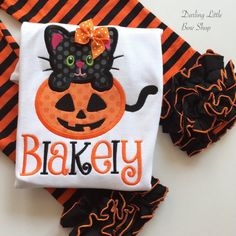 Halloween shirt or bodysuit for girls and by DarlingLittleBowShop