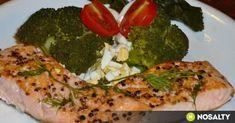Serpenyős lazac brokkolis körettel recept képpel. Hozzávalók és az elkészítés részletes leírása. A serpenyős lazac brokkolis körettel elkészítési ideje: 55 perc Vegetables, Food, Essen, Vegetable Recipes, Meals, Yemek, Veggies, Eten