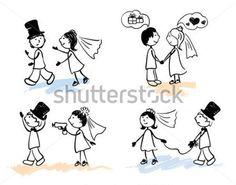 novios boda dibujo divertidos - Buscar con Google