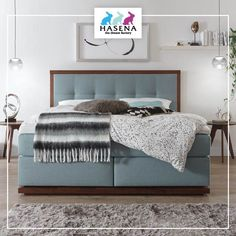 Hasena BoxSpring Bett Classic mit Kopfteil Artino und Fusselement Socca Bed, Classic, Furniture, Home Decor, Bed Room, Derby, Decoration Home, Stream Bed, Room Decor