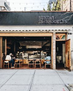 Sundays in Brooklyn cafe