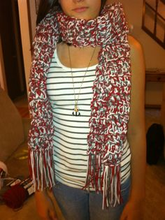 Alabama Crimson Tide Crocheted Scarf by TimelessKnot