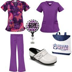 """UA Scrubs Purple Popsicle"" by uascrubs on Polyvore"