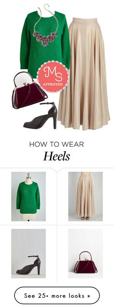 """""""Appointed to Elegance Skirt"""" by modcloth on Polyvore featuring Seychelles, outfit, modcloth and modstylist"""