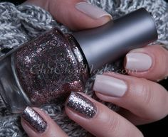 Glitter + Neutrals with Morgan Taylor It's My Party