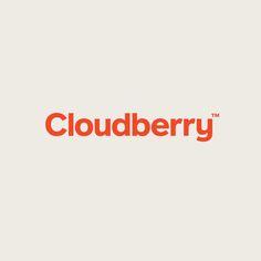 Cloudberry designed by Perky Bros. Pet Branding, Branding Design, Word Mark Logo, Website Logo, Typography, Lettering, Logo Design Inspiration, Visual Identity, Modern Library