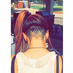 nape undercut designs unique - Google Search