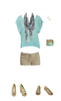 stone and blue summer outfit