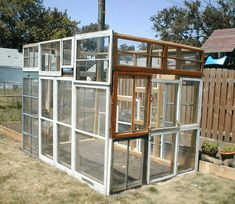 This is a brief guide on how I took some old windows from houses they where tearing down in my neighborhood and turned them into a small greenhouse in my back yard. Greenhouse Farming, Window Greenhouse, Build A Greenhouse, Greenhouse Ideas, Greenhouse Wedding, Hydroponic Supplies, Greenhouse Supplies, What Is A Conservatory, Wooden Greenhouses