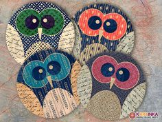 Instant Download OWLS 4 inch and 3.8 inch Circles by KARTINKAshop, $4.50