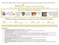 Why Wildtree?! Organic, GMO free, budget friendly, freezer meal workshops. Want more info, visit me at mywildtree.com/LiaHasier or Wild for Wildtree with Lia on Facebook