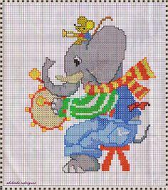 "My Corner, ""Elephant Graphics and mice in Cross Stitch"""