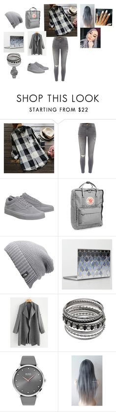 """""""College Outfit"""" by bobolugirl ❤ liked on Polyvore featuring River Island, Vans, Fjällräven, The North Face and BOSS Black"""