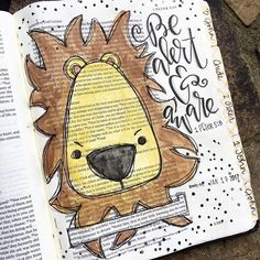 Bible Journaling 1 Peter 5 Word Of Faith, Faith Bible, My Bible, Bible Scriptures, Scripture Doodle, Scripture Art, Bible Art, Bible Drawing, Bible Doodling