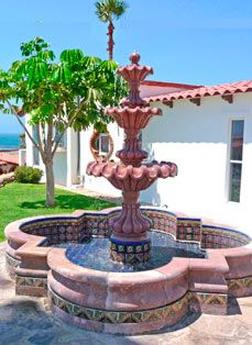 Talavera Tile Decorative Accents Add Atmosphere And Flair To Any Fountain.