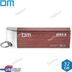 DM PD021 USB3.0 32GB Metal USB Flash Drive High-speed Pendrive Shockproof Dustproof Business Pen Drive EUD-491524
