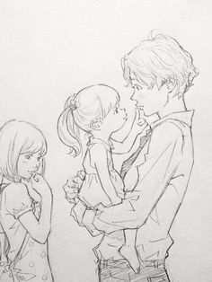 This is so cute. Mother, Father, and Daughter