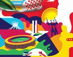 Illustrations for Nescau 2.0 - Nesttlé. Limited Series for Confederation Cup. Project by FutureBrand. Designs made by Sonsino & Kola Studio. 2013.-Ilustrações para Nescau 2.0 - Nestlé. Série Limitada para a Copa das Confederações. Projeto desenvolvido p…