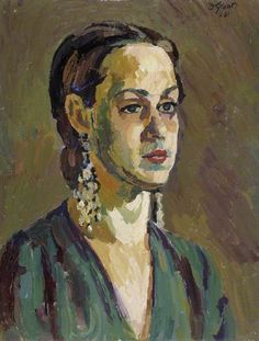 Duncan Grant (UK, - Miss Mary Coss - 1931 - oil on canvas - The Fitzwilliam Museum, Cambridge, UK Duncan Grant, Modern Art, Contemporary Art, Vanessa Bell, Art Grants, Bloomsbury Group, Miss Mary, Portraits, Portrait Paintings