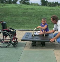 Accessible Spring Platform from Landscape Structures brings springy fun to kids of all abilities.