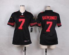 Nike San Francisco 49ers #7 Colin Kaepernick elite Womens Jersey