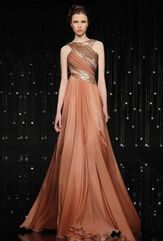 "Jean Fares ""Breeze Me"" Haute Couture. Vestidos Fashion, Fashion Dresses, Fashion Themes, Evening Dresses, Prom Dresses, Formal Dresses, Bridesmaid Dress, Beautiful Gowns, Beautiful Outfits"