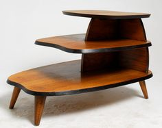 3-Tier Mid Century Modern Biomorphic End Table on Etsy, $356.40 AUD