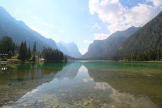 Toblacher See, Hochpustertal, Dolomiten, Südtirol (Lago di Dobbiaco)