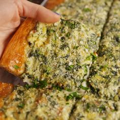 Spinach Artichoke Flatbread. Use fat head or cauliflower dough
