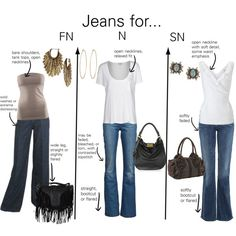 """""""Jeans for Natural types"""" by thewildpapillon on Polyvore"""