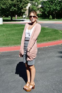 add flats and it's a perfect teacher outfit... i need a cute but comfy skirt like this!!