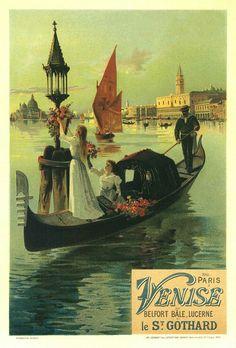 Hugo d'Alesi, Venise, poster, 1899