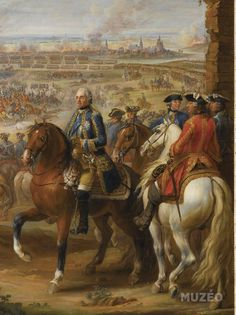 King Louis XV at the Battle of Fontenoy