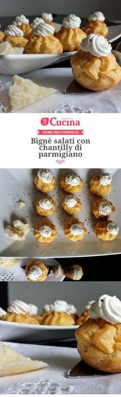 Bignè salati con chantilly di parmigiano della nostra utente Alice. Unisciti alla nostra Community ed invia le tue ricette!