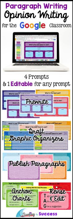 Digital graphic organizers take students through the process of writing an opinion paragraph. Opinion Writing Prompts and Opinion Writing Graphic Organizers are organized into 5 Google Slide Decks. One deck has a blank for the prompt so you can edit the prompt to be anything you'd like. This resource contains: *a teacher PDF download with a link to click for the digital resource *a digital teacher's manual in Google Classroom *5 Google Slides resources for each of your students
